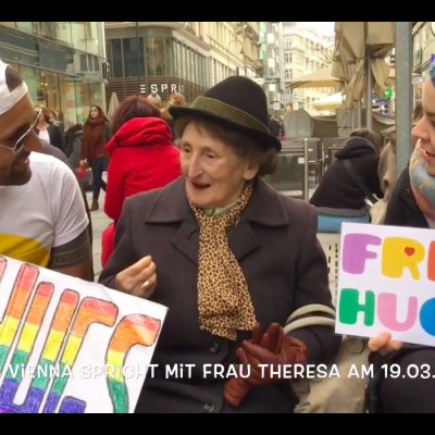 Free Hugs Vienna interviewt Frau Therese am 19.03.2016