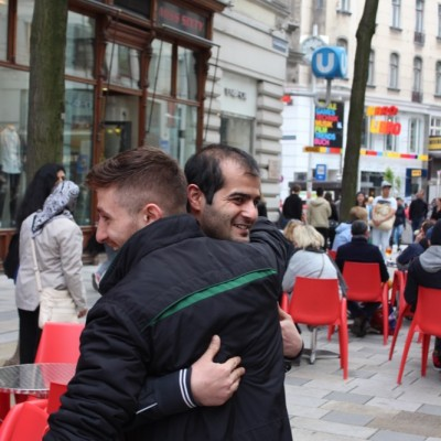 Free Hugs Vienna @ Global Free Hugs Day 02 May 2015 009